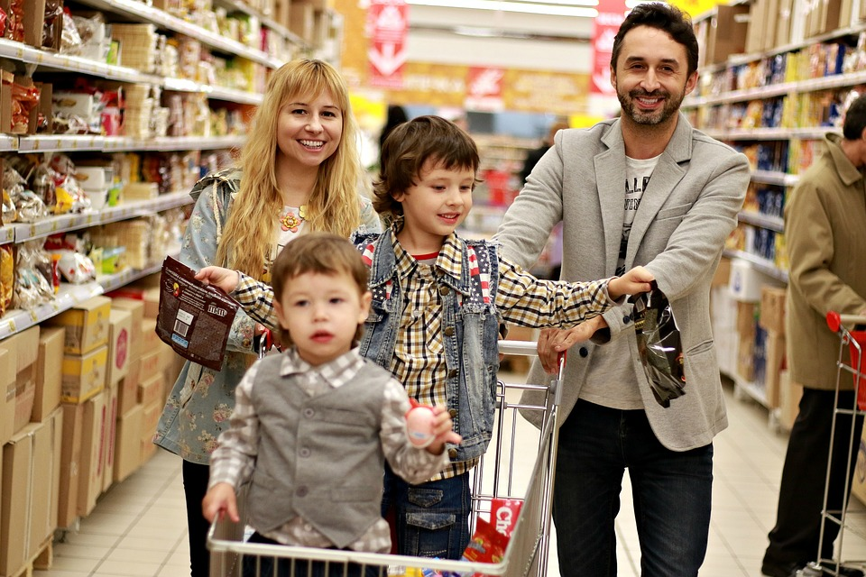 Picture of family shopping